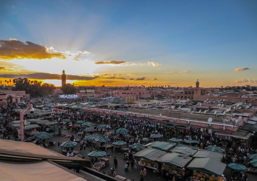Sunset in Jemaa El Fna
