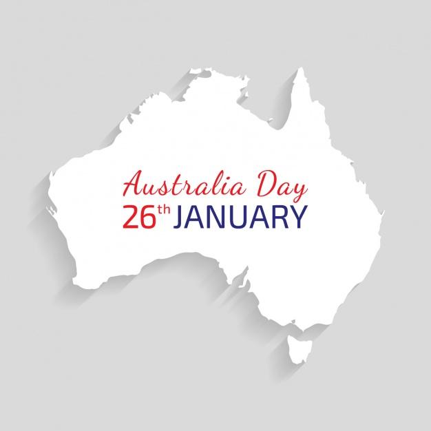 Australia's day background design Free Vector
