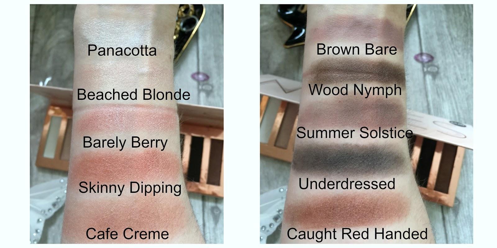 primark ps nudes eyeshadow palette swatches
