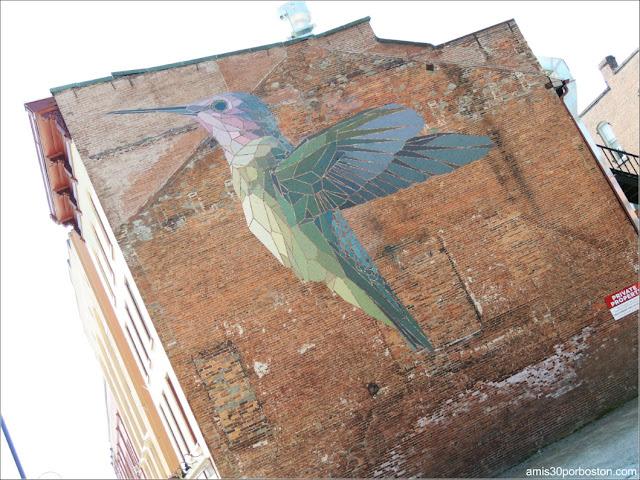 Mural Colibrí en la Ciudad de Burlington, Vermont