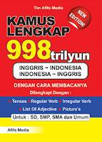 Kamus Lengkap 998 Trilyun Inggris >< Indonesia Index | Rp. 28.500,-
