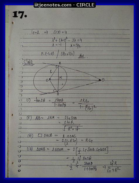 circle notes cbse7