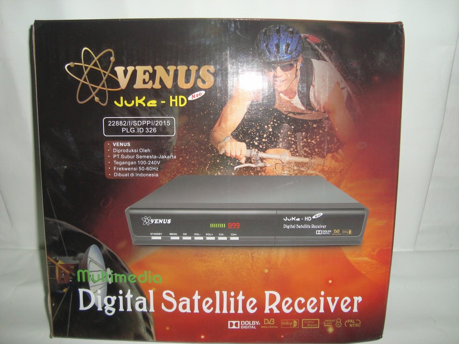 Fitur Dan Spesifikasi Receiver Venus Juke HD - Beranda Satelit