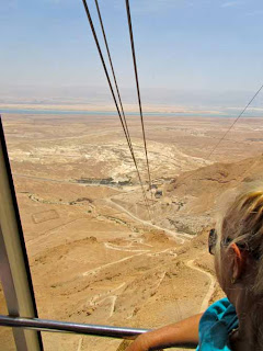 Cable Car Going Up Masada Israel