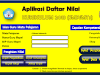 Download Aplikasi Rapot K13 + Daftar Nilai K13 Plus Deskripsi Otomatis Jenjang SMP/MTS Hasil Revisi