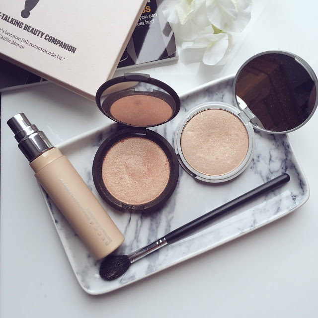 My top highlighters, BECCA Champagne Pop, The Balm Mary Lou Manizer