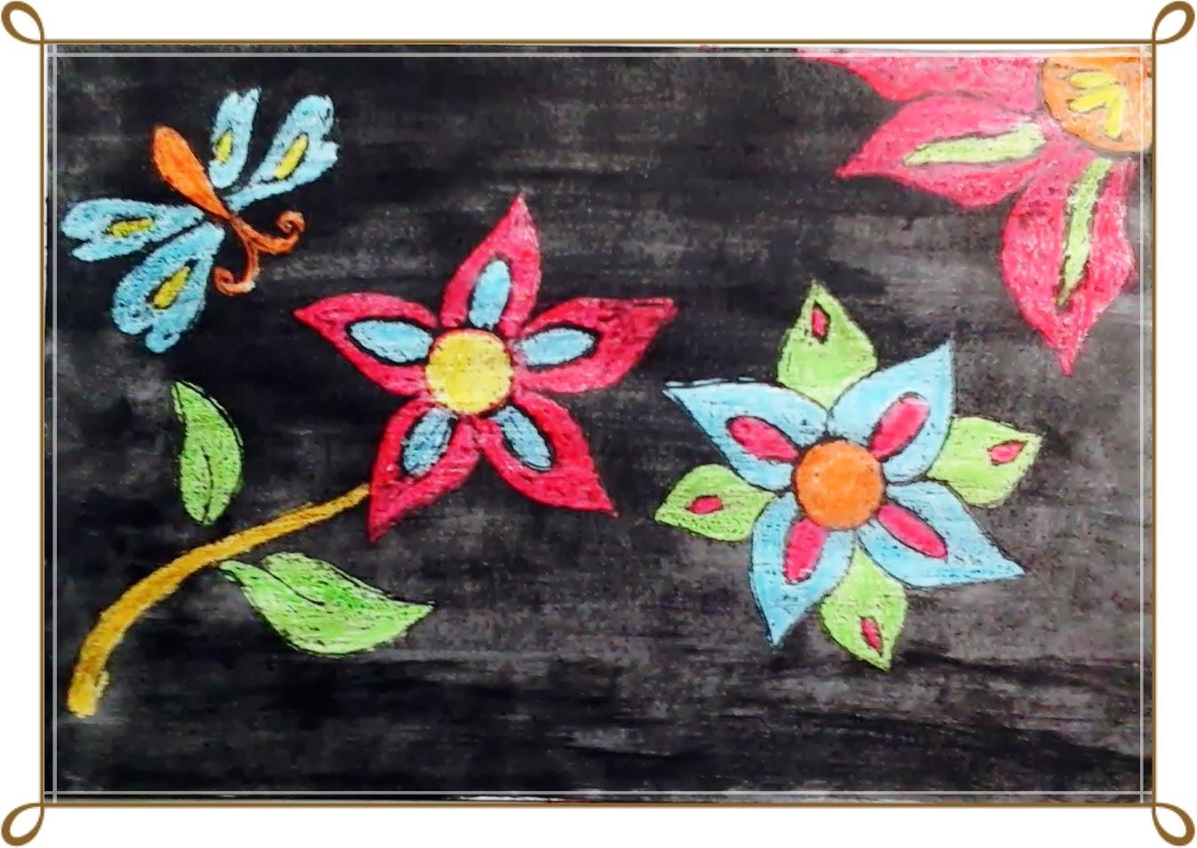 Contoh Gambar Bunga Cat Air Renunganya
