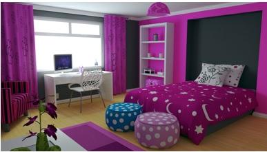 colores alegres para dormitorios de chicas, colores brillantes para dormitorios
