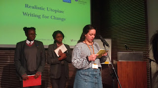 Rania of Global Generation reading her poem on nature