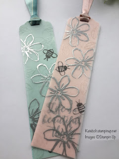 Book mark made using Stampin Up products