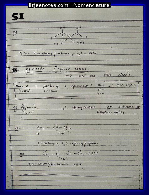 nomenclature organic8