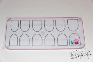 Pegatinas caseras para uñas