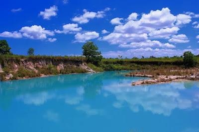 Danau biru di kota singkawang