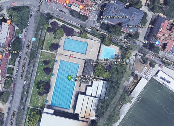 Obras en 2018 en la piscina del centro deportivo la mina for Piscina municipal vicente del bosque