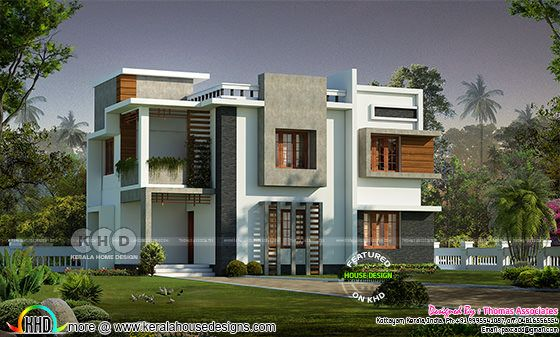 1750 sq-ft 4 bedroom contemporary Kerala house design