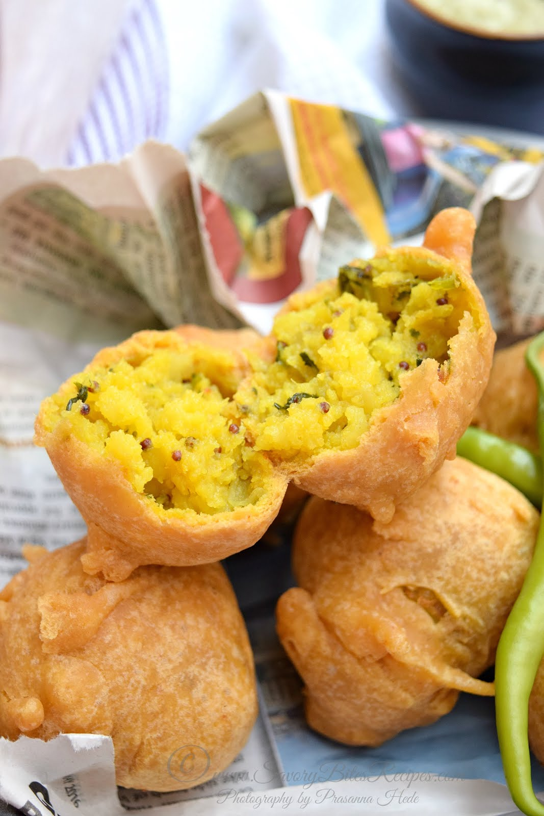 Batata Vada Wada Vada Pav Street Food Indian Vegetarian Tea-time snack Potato Vada
