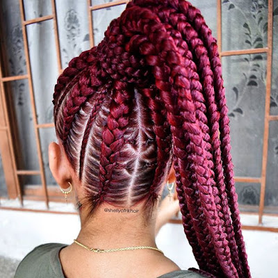 Box braids hairstyles are one in every of the most popular African American protecting st ✘ 23 Lemonade Box Braids Hairstyles Ponytails for African Women