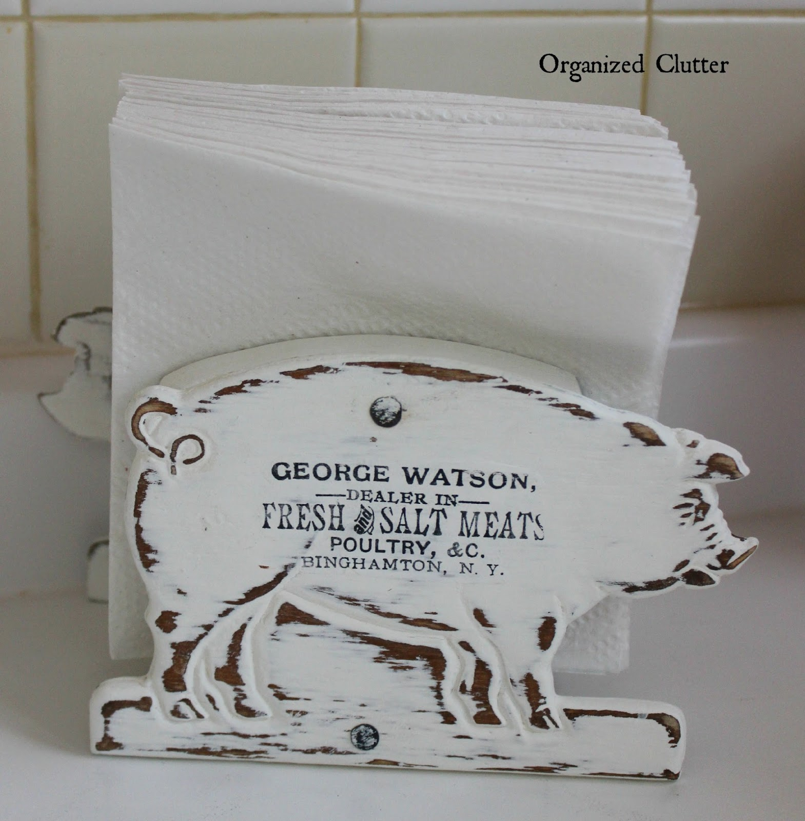 Repurposed Mail Organizer Napkin Holder