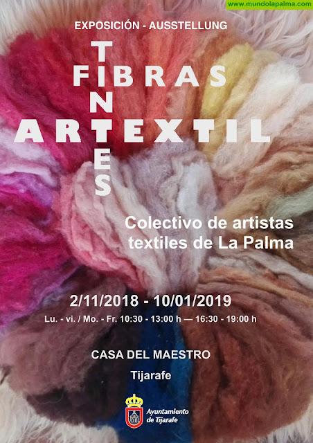 """Tijarafe acoge la exposición """"Artextil. Fibras y tintes"""" en la Casa del Maestro"""