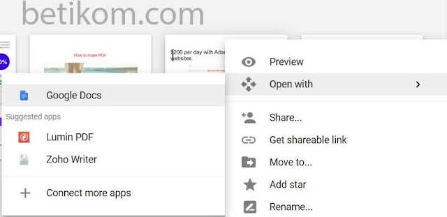 Buka google docs untuk bisa mengetik