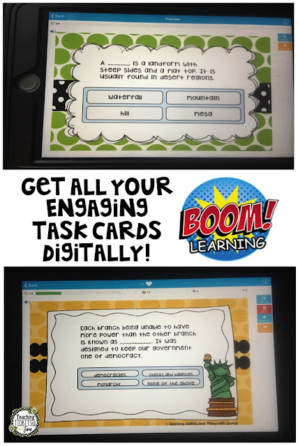Boom Learning App for Digital Task Cards