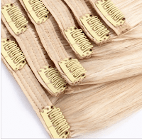 clip-in yarn weft hair extensions
