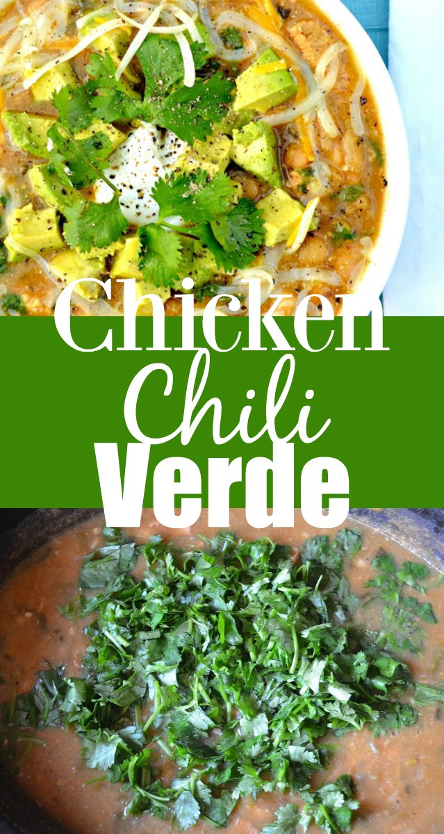 Chicken Chili Verde with Avocado is a family favorite recipe using white beans from Serena Bakes Simply From Scratch.