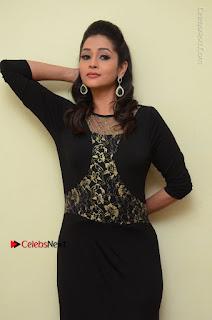 Telugu Actress Manasa Manohar Stills in Black Long Dress at Naku Nene Thopu Turumu Trailer Launch  0045.JPG