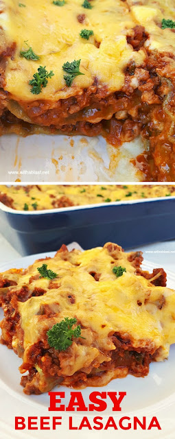 Absolutely delicious ! An easy, basic recipe for Beef Lasagna #Pasta #EasyRecipe #Lasagna