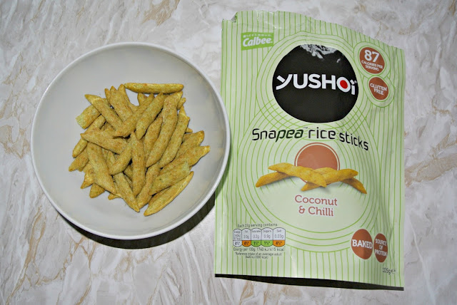 Yushoi Snapea Rice Sticks in coconut and chilli Degustabox