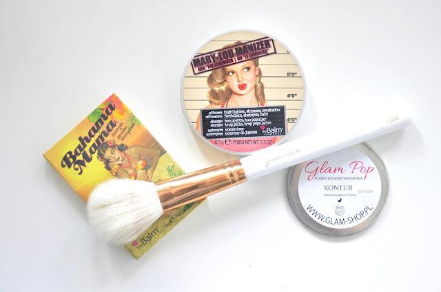 ulubieńcy maja - the balm, glambrush, glampop