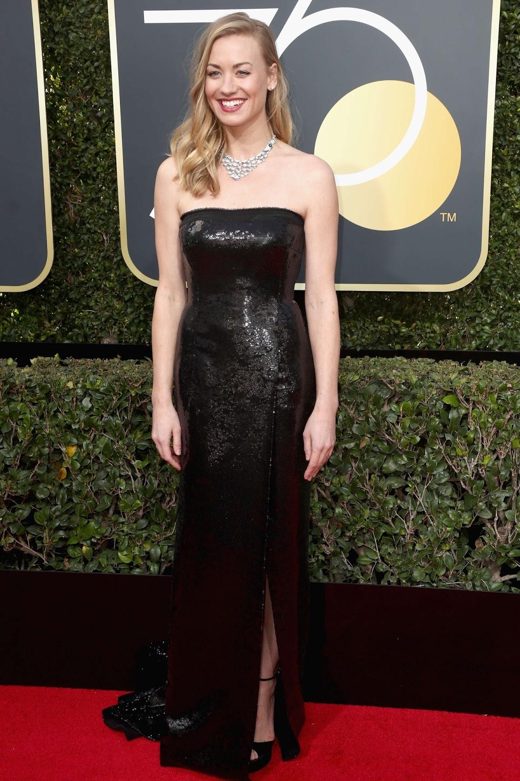 Yvonne Strahovski on the Red Carpet at Golden Globe Awards