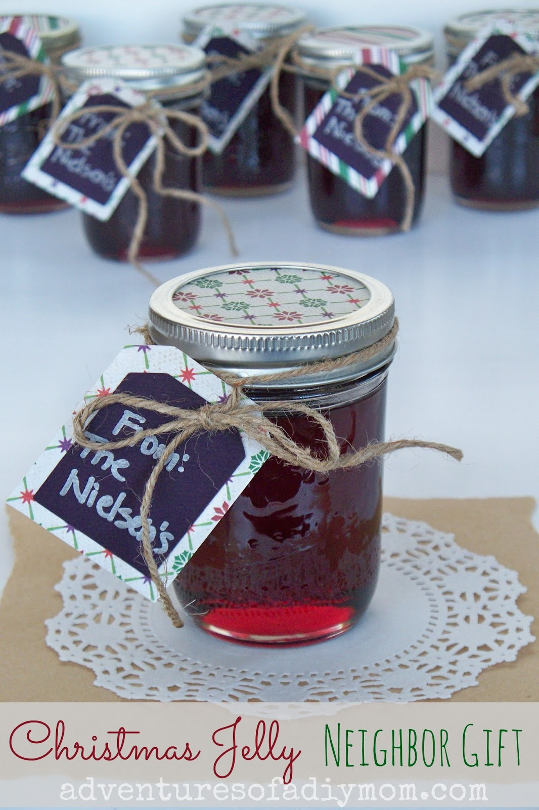 Christmas Jelly Neighbor Gift