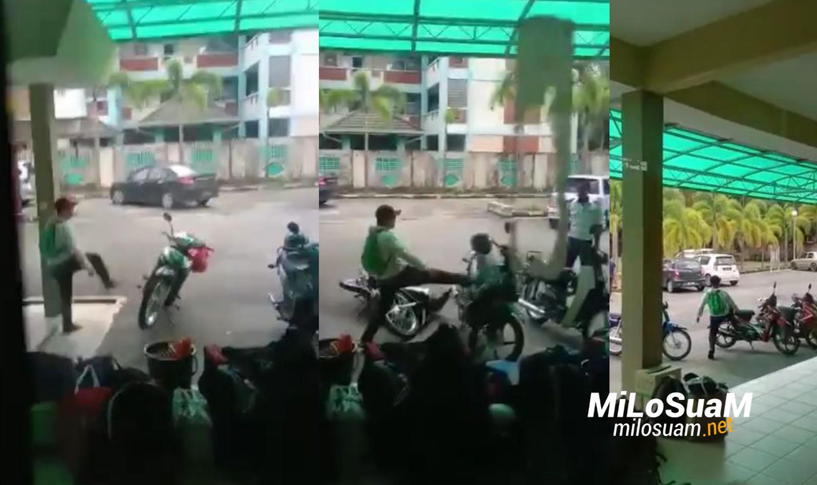 Timbalan Pengarah ILP tendang motorsikal