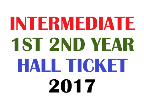 Manabadi Intermediate Hall Ticket 2017