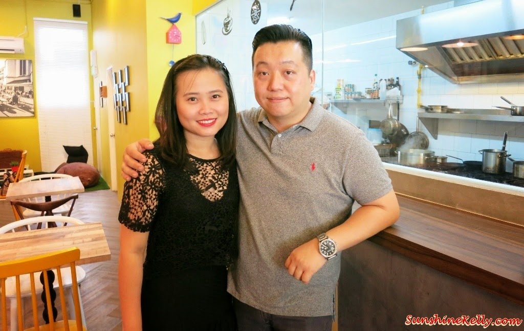 Mr & Mrs Robin Lim, the founder, owner of Bites Cafe, Bites Cafe Lake Fields, Bites Cafe, Sungai Besi, coffee place, malaysia cafe, Coffee, Waffle, Breakfast Pizza, Frittata, Affogato, The last polka, ice cream with coffee, chilled out place, chilled out cafe, egg dish