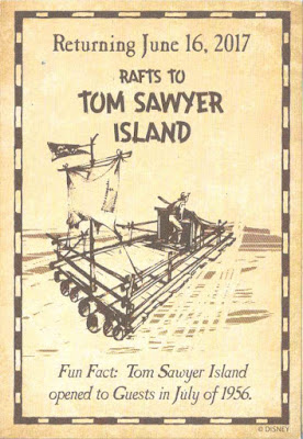 Rafts to Tom Sawyer Island Return Trading Card Disneyland