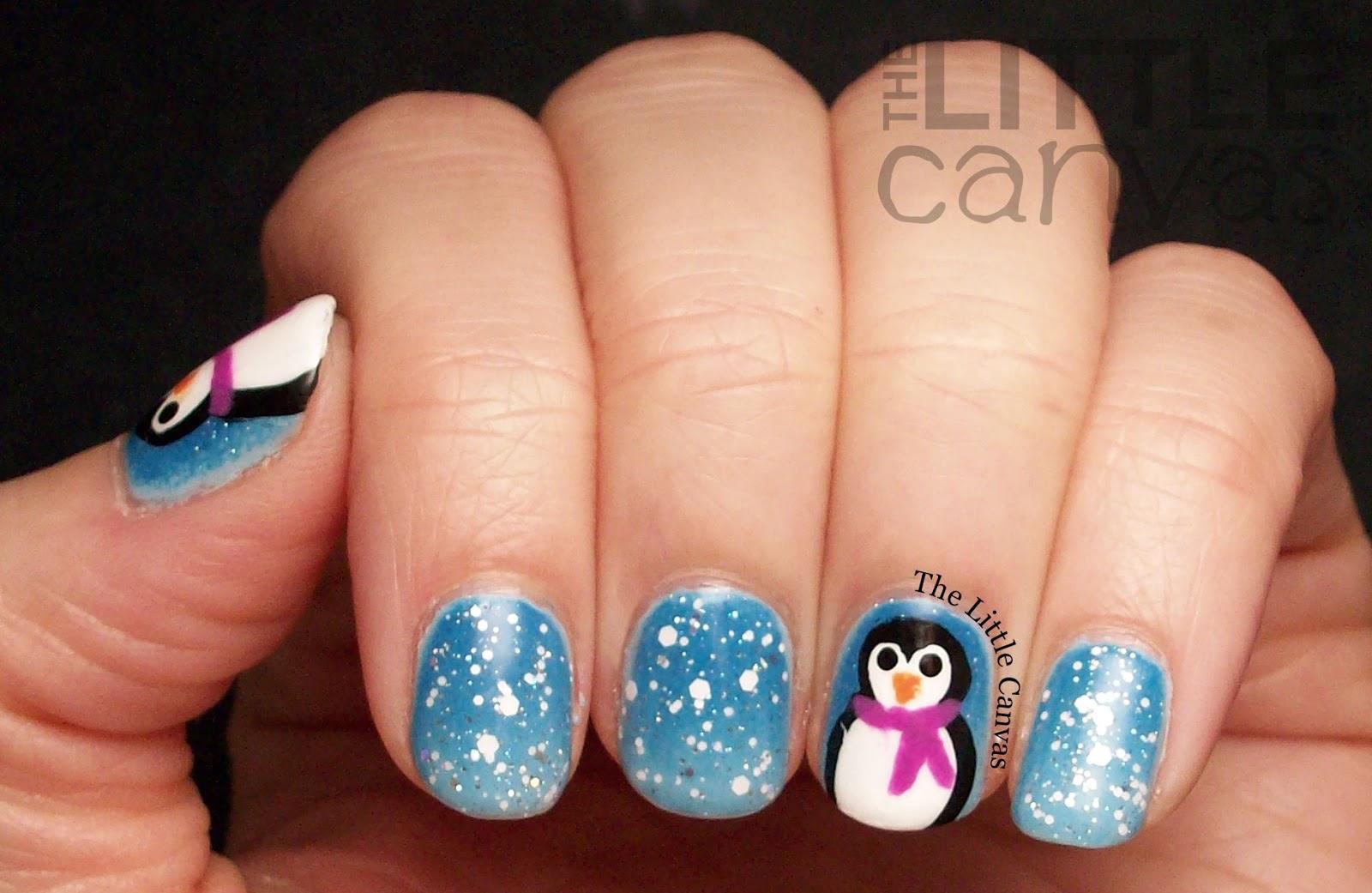 Amazing penguin nail art!