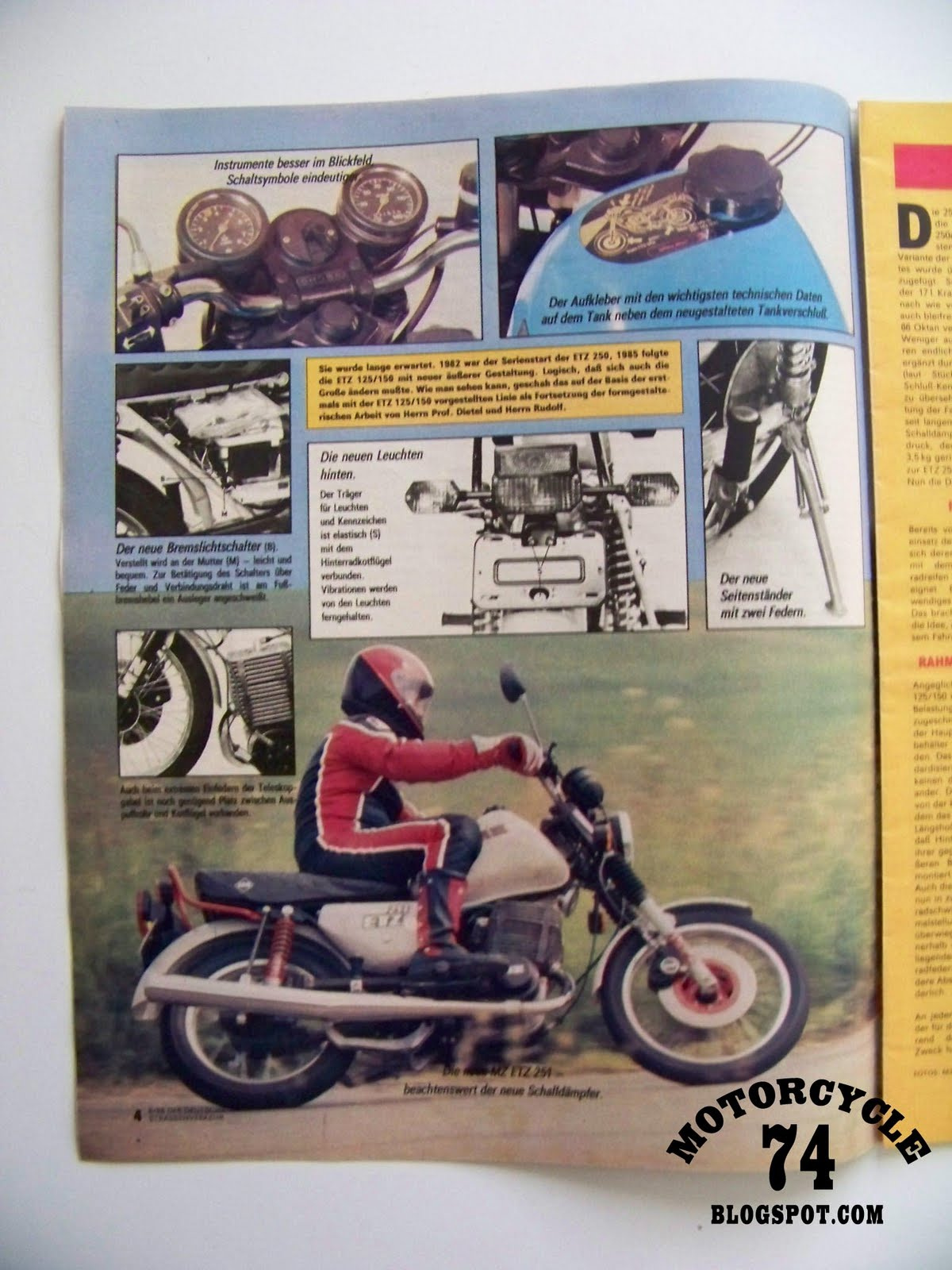 Motorcycle 74 Mz 251 Ddr Former East Germany
