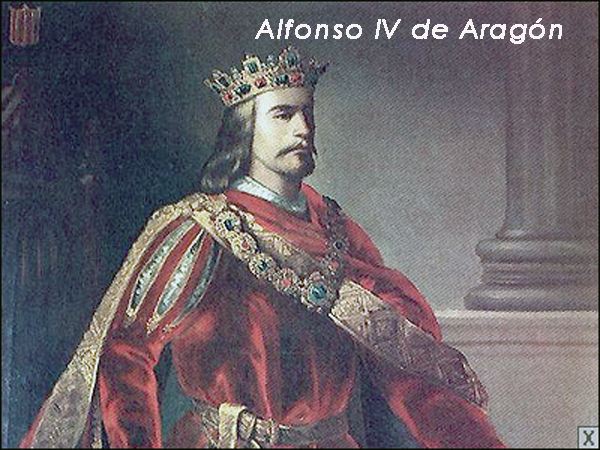 Resultado de imagen para Fotos del rey Alfonso IV de Aragón