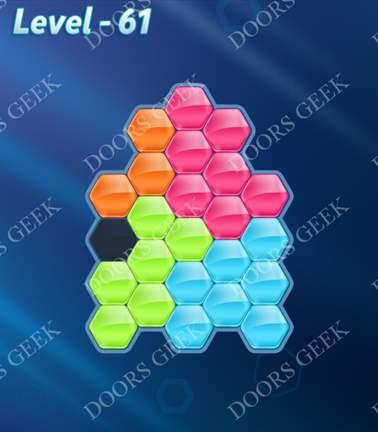 Block! Hexa Puzzle [5 Mania] Level 61 Solution, Cheats, Walkthrough for android, iphone, ipad, ipod