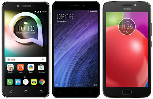 Alcatel Shine Lite vs Xiaomi Redmi 4A vs Motorola Moto E4