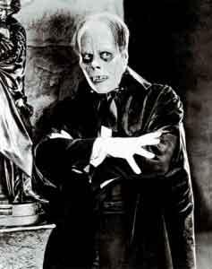Lon Chaney como El fantasma de la Opera