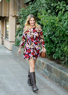 Timeless Coffee & Fall Floral Dress