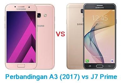 Harga dan Spesifikasi Samsung Galaxy A3 (2017) vs J7 Prime