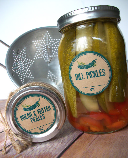 pickle canning jar labels