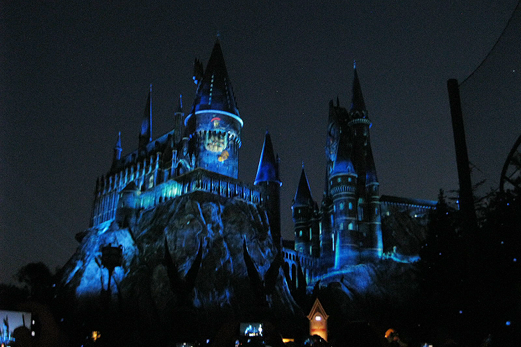 Nighttime Lights at Hogwarts Castle Ravenclaw
