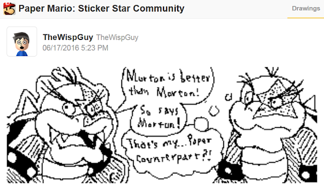 TheWispGuy Paper Morton Koopa Jr. Mario Koopalings