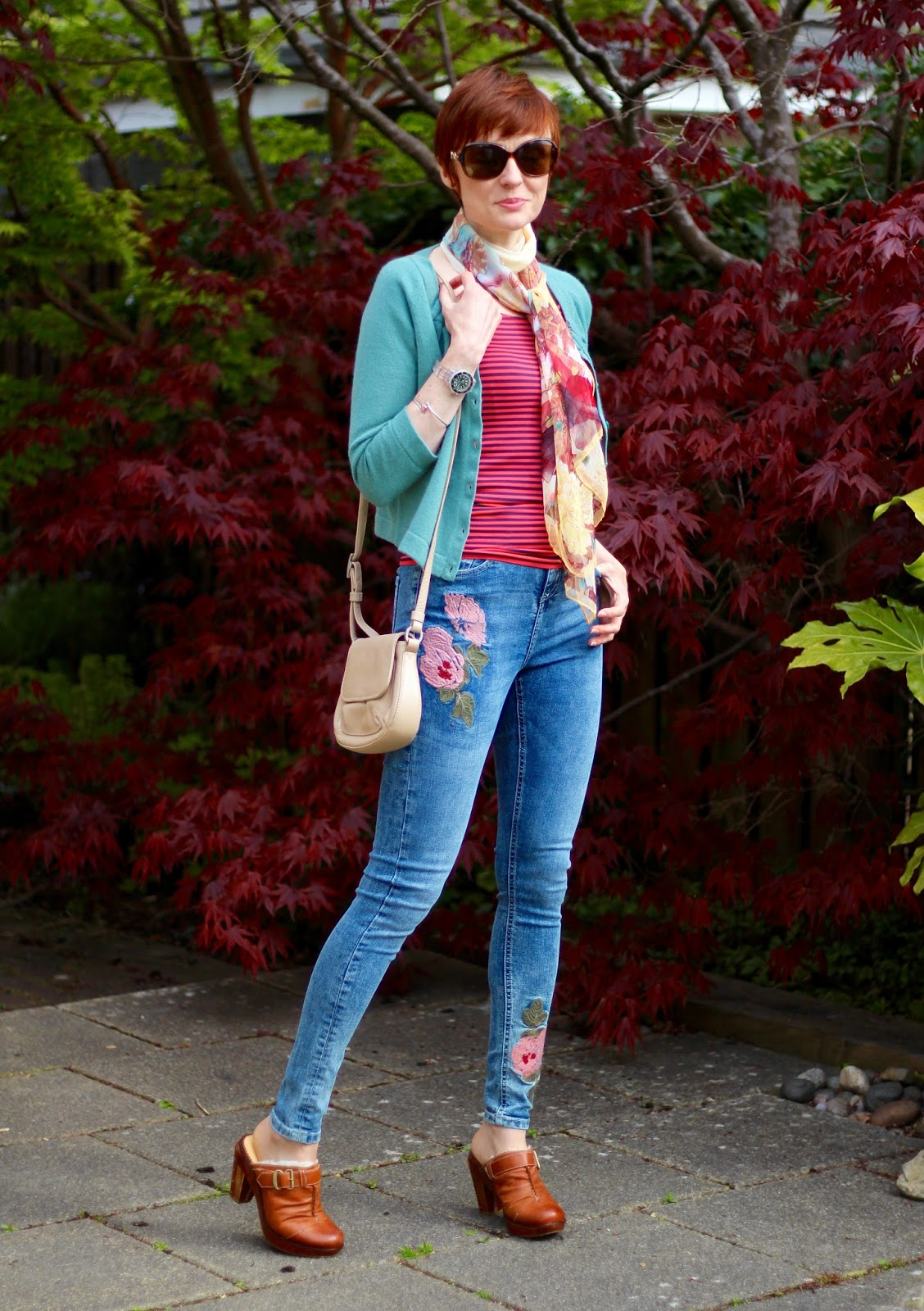 Embroidered Jeans, Bare shoulders, Sheepskin Clog Mules & a Good Strapless Bra | Fake Fabulous