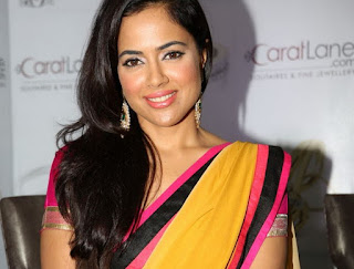 Sameera Reddy in Multi-colur Saree